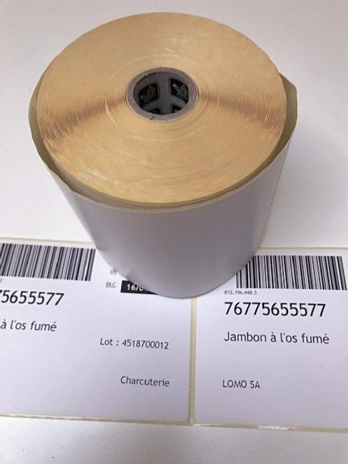 Etiquettes DT  102X152 mm autocollantes en rouleaux