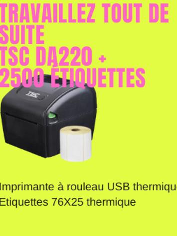 StockMobil : Bundle TSC DA220 + 2500 étiquettes