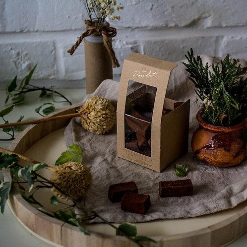 Truffes | praliné | chocolat noir origine Papouasie