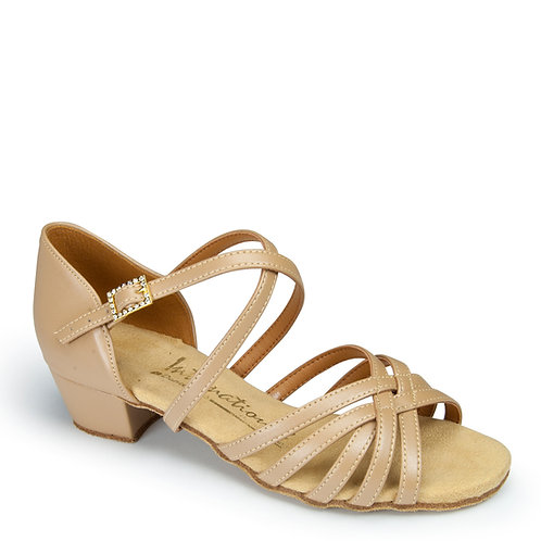 Girls Juvenile Flavia - Beige Leather