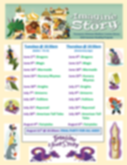 POSTER 2020 summer reading schedule imag