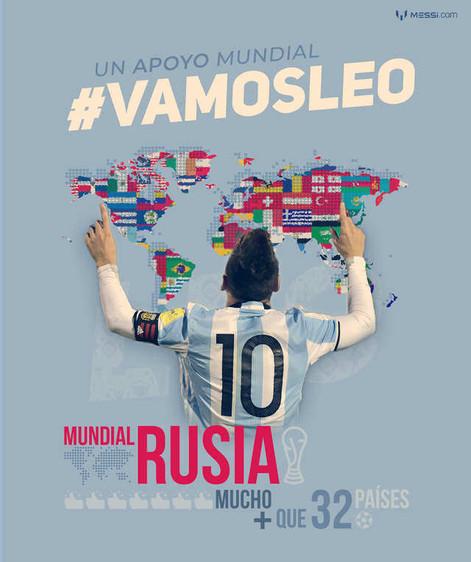 La página web de Messi premiará el apoyo mundialista de sus fans a través de un concurso.