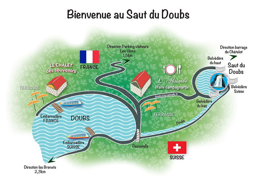 Carte Saut du doubs