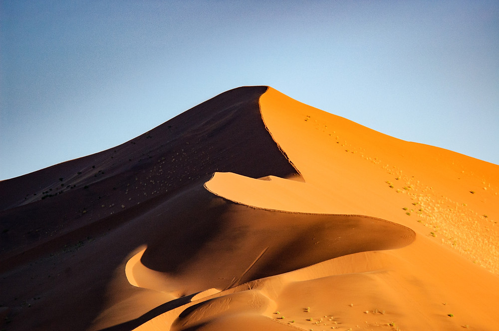 One of the moving dunes in Namibia