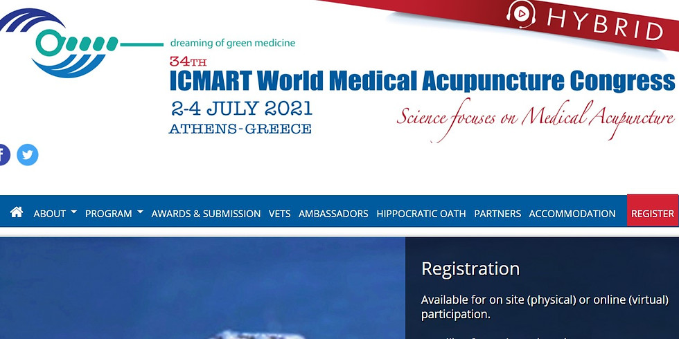 34th ICMART World Medical Acupuncture Congress