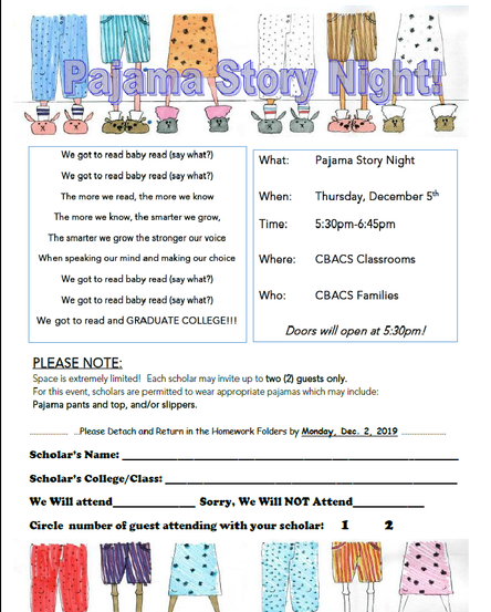 Join us for our 1st ever Pajama Story Night on Thurs. 12/5!