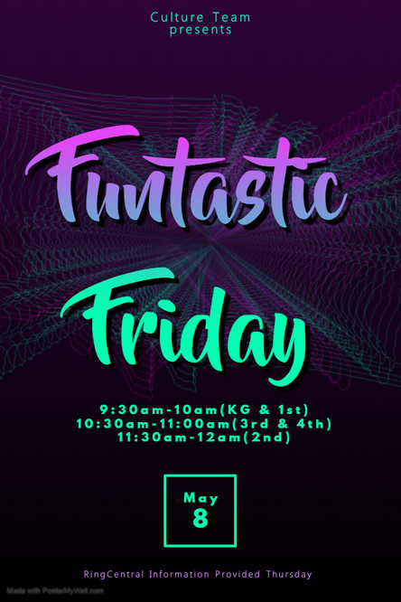 Funtastic Friday is this week, May 8th!  Can't wait to see you!