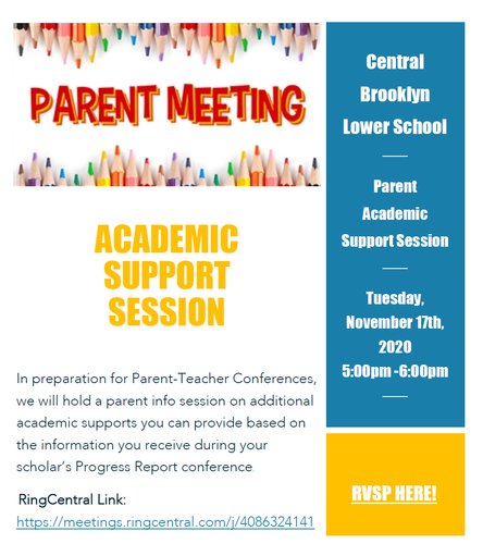 Parent Academic Support Session - Tues. November 17th @ 5:00pm