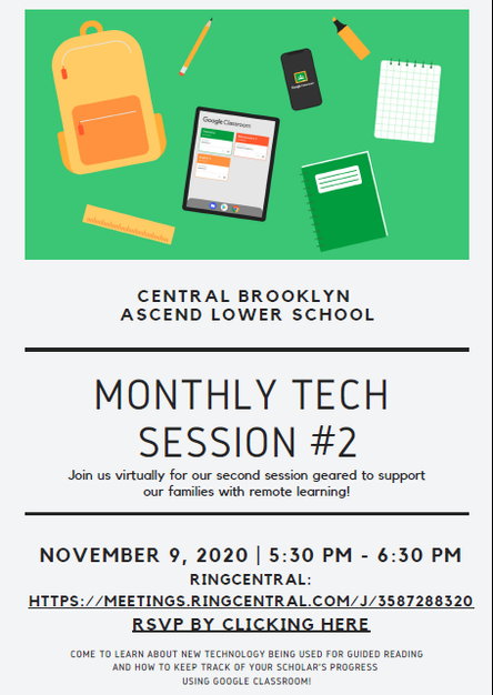 Monthly Parent TECH Session #2 - Mon. November 9th @ 5:30pm