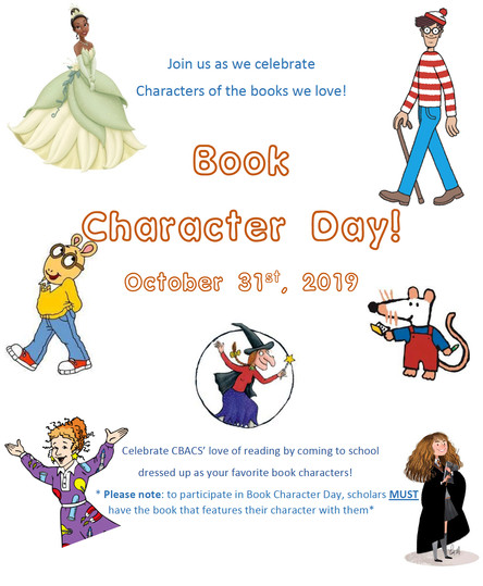 Book Character Day - Thurs. October 31st