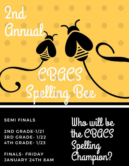 Spelling Bee Finals, Gr. 2 - 4 - Fri. Jan. 24th