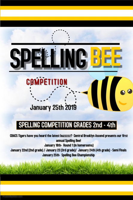 SPELLING BEE FINALS! - January 25th, 2019 - Grades 2-4