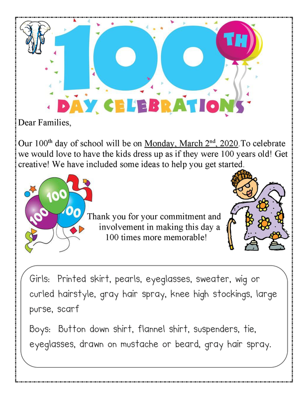 EBACS' 100th Day of School Celebrations