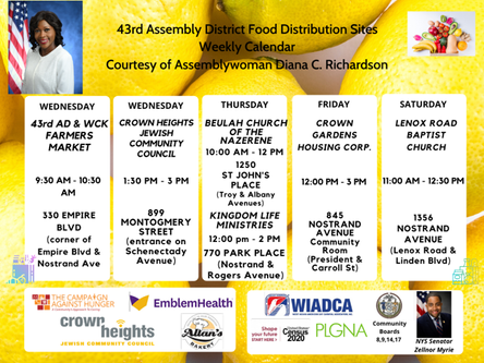 FOOD DISTRIBUTION SITES IN OUR AREA - 9.18.2020