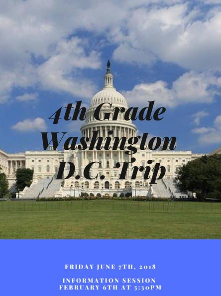 4th Grade Washington, D.C. Trip - June 7th, 2019