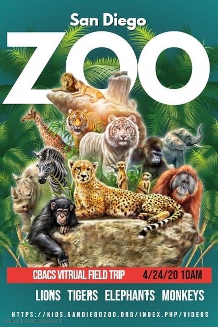 Virtual Field Trip to the San Diego Zoo - Fri. April 24th!