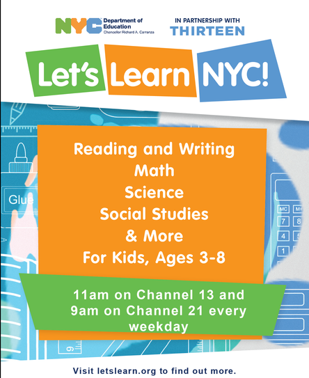 Let's Learn NYC! A resource of the Department of Education & Channel 13