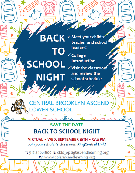 Join us for Back to School Night on Wed. 9/16 @ 5:30pm!