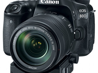 New Canon EOS 80D with power zoom adapter