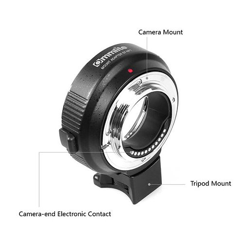 Commlite Electronic Aperture Control Built-in IS Lens Mount  MFT/EOS  GH4/GH5