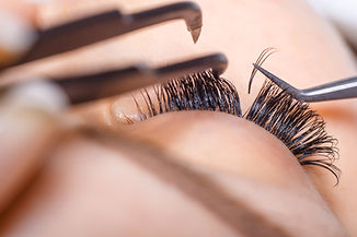 Eyelash Extension Procedure.jpg Woman Eye with Long Eyelashes.jpg Lashes, close up, macro, selective