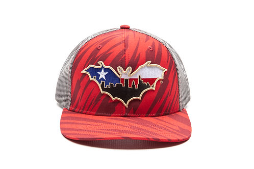 BatCity Red TigerCamo LoneStar SnapBack