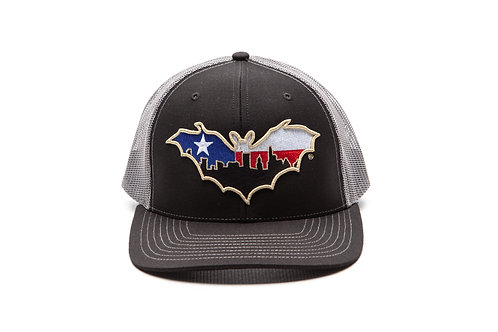 BatCity Black/Charcoal LoneStar Snapback