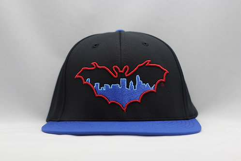 BatCity Black/Blue/Red Fitted