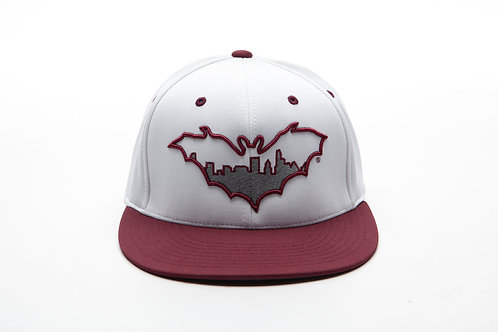 BatCity White/Maroon Cap