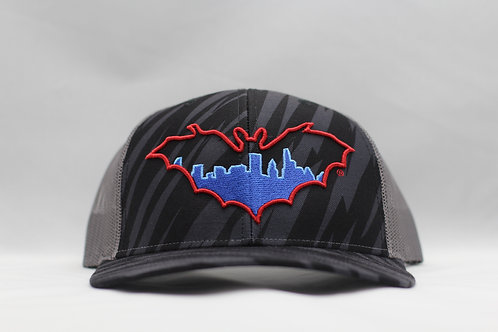BatCity Black/Red/Blue Tiger Camo SnapBack