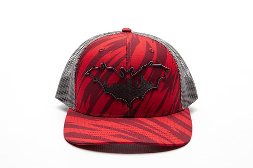 BatCity Red/Black TigerCamo SnapBack
