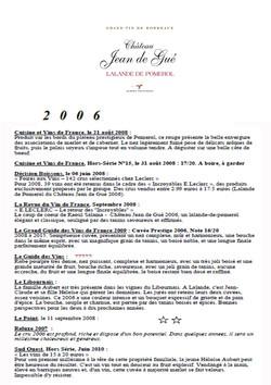 Château Jean de Gué 2006 part 2