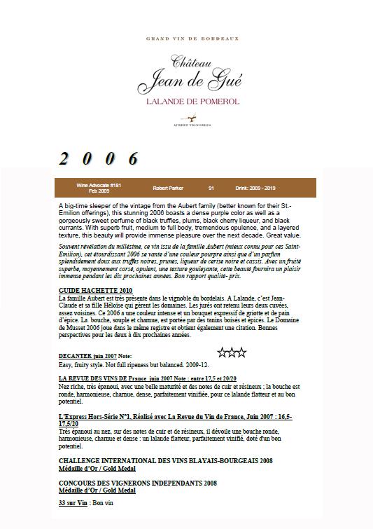 Château Jean de Gué 2006 part 1