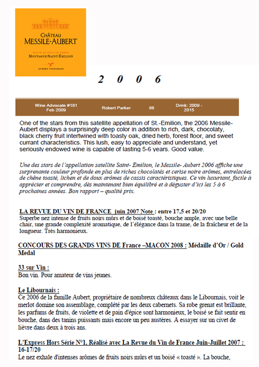 Château Messile-Aubert 2006 part 1
