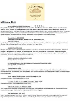 Château La Couspaude 2001 part 2