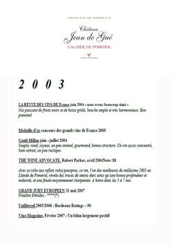 Château Jean de Gué 2003