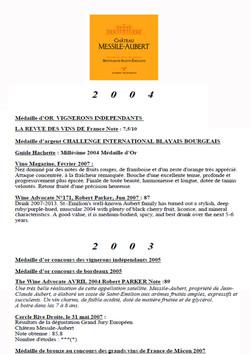 Château Messile-Aubert 2004 & 2003