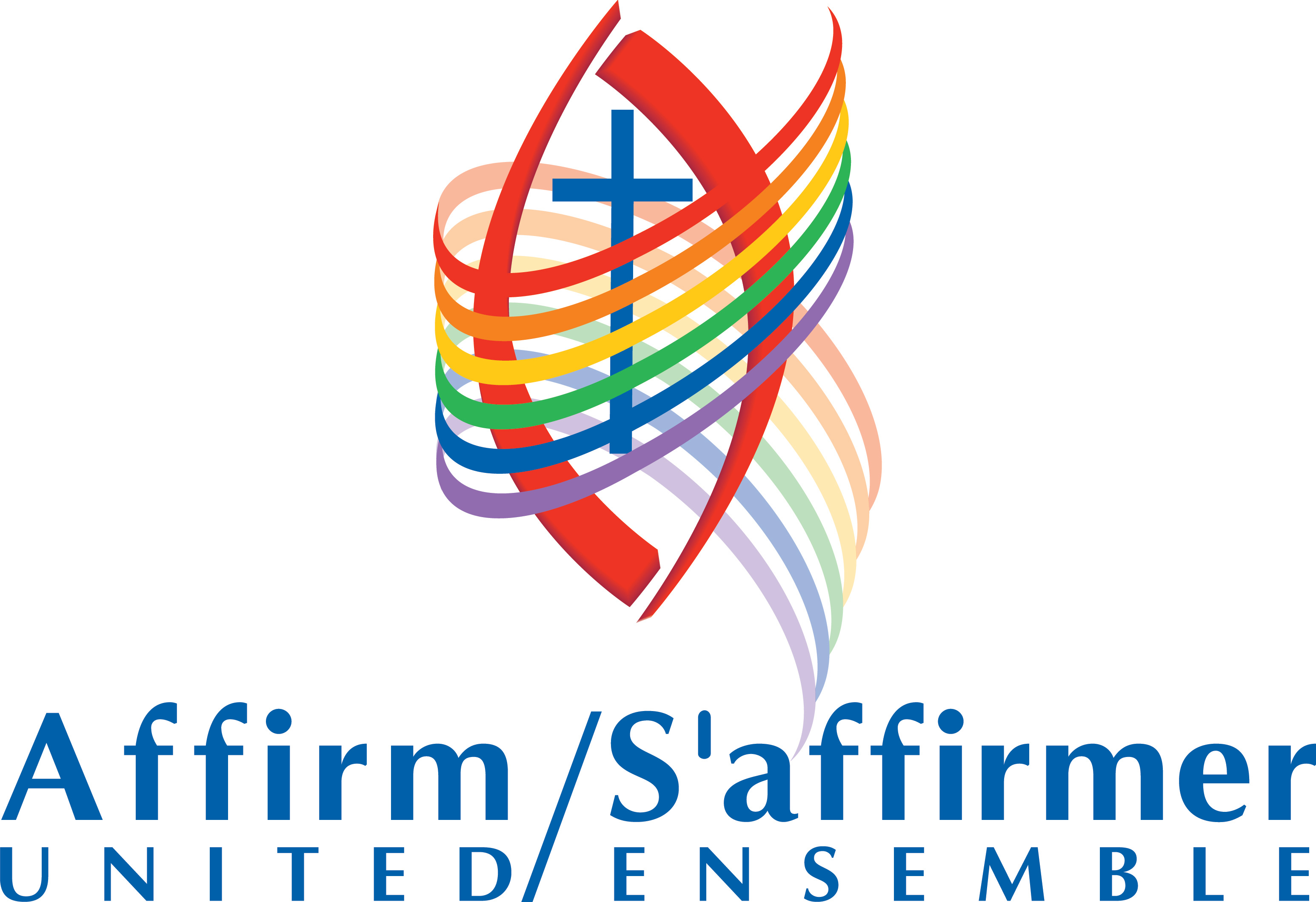 Affirm United logo- symbol with bilingual wording-colour-fairly high res