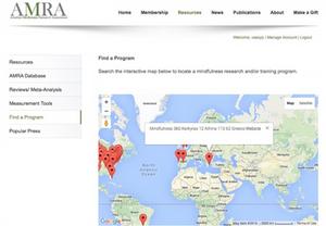 Mindfulness Programs - AMRA Map