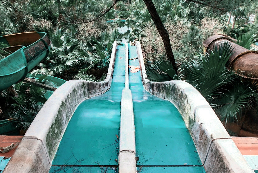 || abandoned water park || hue || Vietnam || abandoned places || thatnomadcouple || team pixel || That Nomadcouple || lightroom || made by google || google india || thatnomadcouple.com || my_fernweh_soul || offbeat_trouvaille || nish || sid || thuy tien lake || water park ||  ||