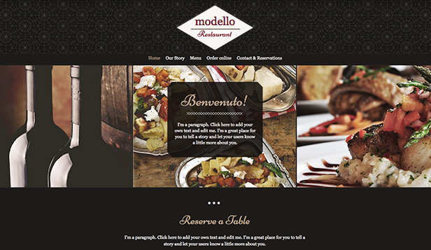 See All Templates website templates – Italian Restaurant