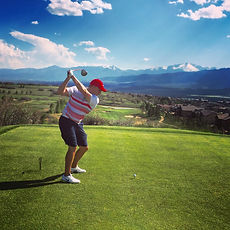Leighton Smith Golfing at Flying Horse Golf Club