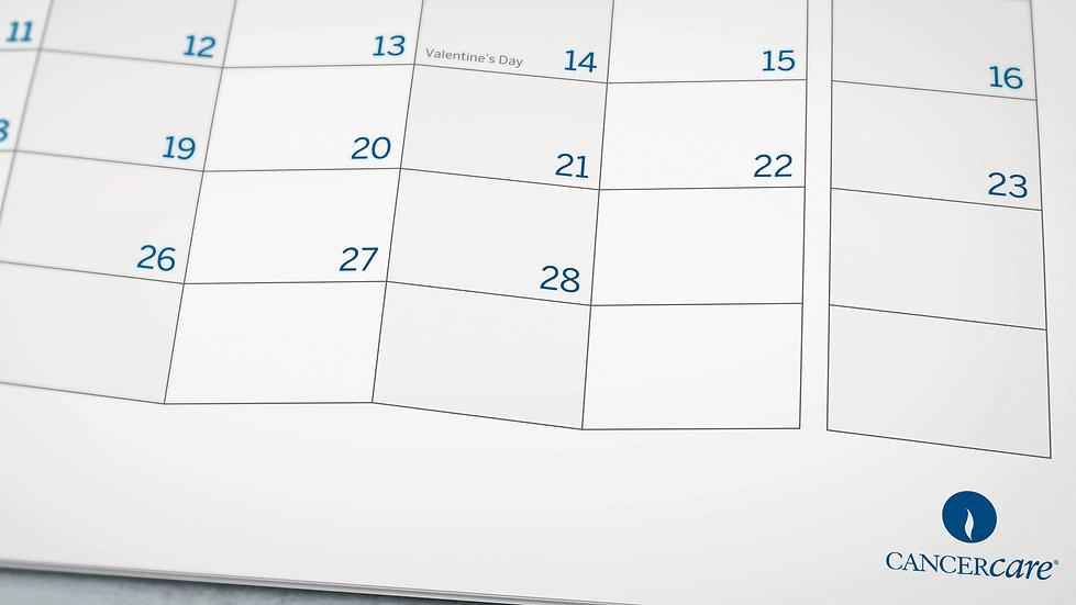 Calendar month grid design