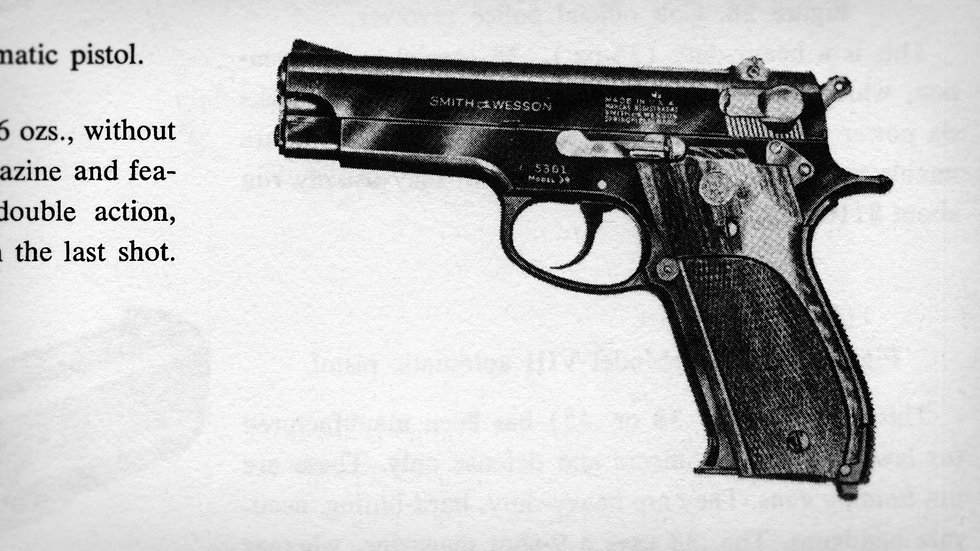 Photocopied gun image in The Anarchist's Cookbook