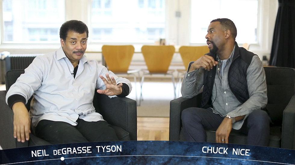 Neil deGrasse Tyson and Chuck Nice on set of StarTalk