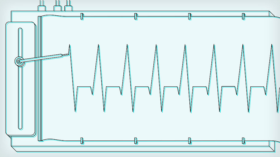 A cardiograph machine from an EDLUNDART animation