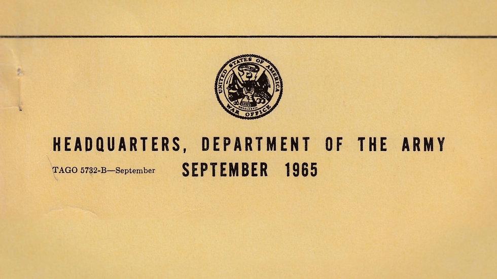 Closeup of a military envelope