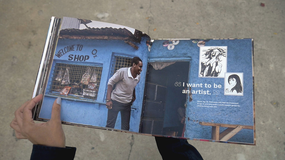 Book about clinics in Kibera