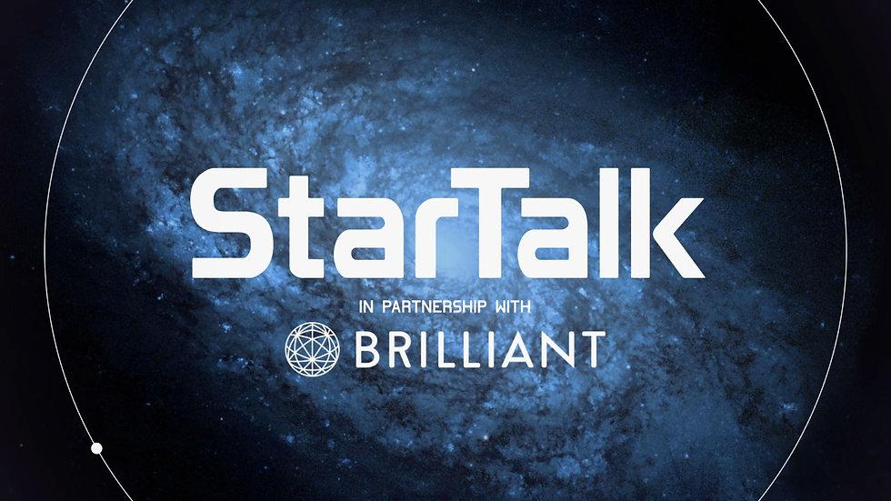 StarTalk title screen with logo