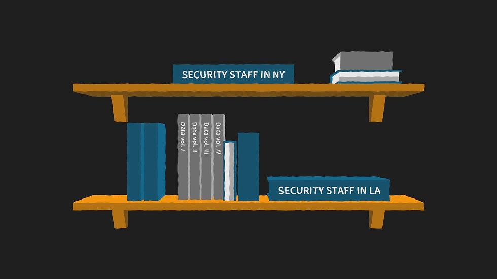 Bookshelf with statistics books, from explainer video